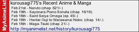 Diario Manga y Diario Anime Kurousagi775