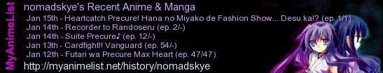 Anime/Manga I've been watching/reading lately.